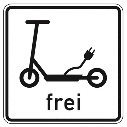 Elektrokleinstfahrzeuge PLEV eKFV Straßenschild