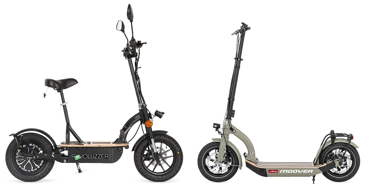 E-Scooter vs E-Scooter mit Sitz