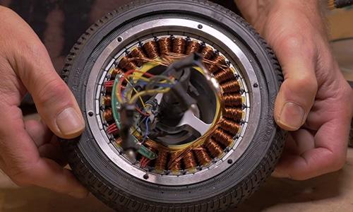 Hoverboard Motor von innen
